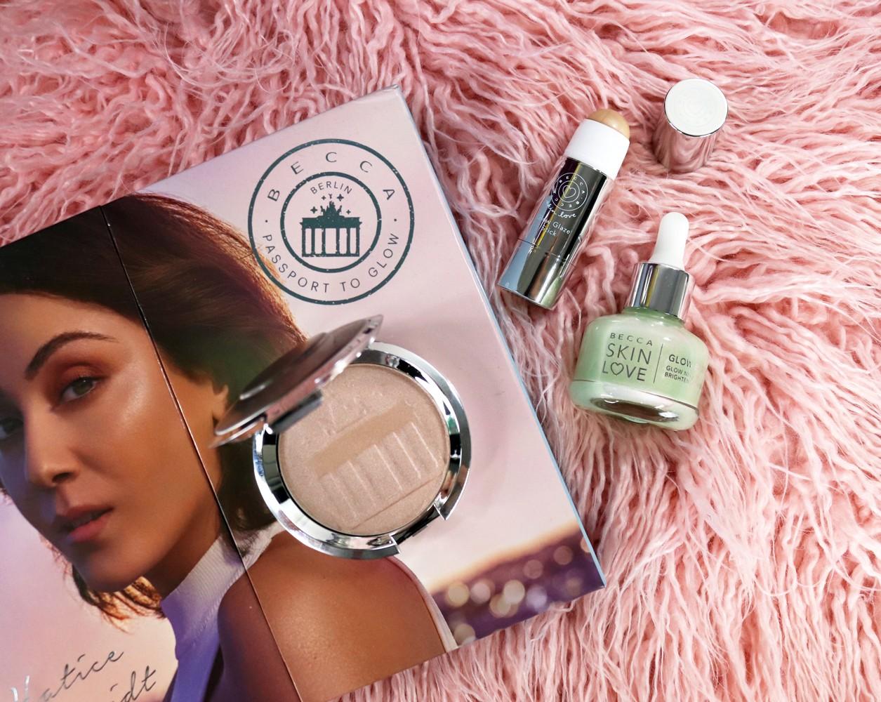 Becca Highlighter Hatrice Berlin Girl Glow and Skin Love Glow Elixir and Glow Glaze Stick