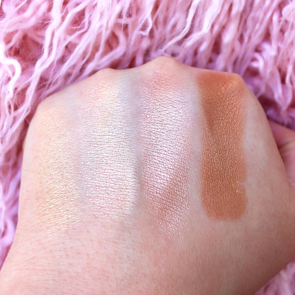 Becca Shimmering Skin Perfector Cruelty Free Highlighter Swatches by Los Angeles Blogger, My Beauty Bunny