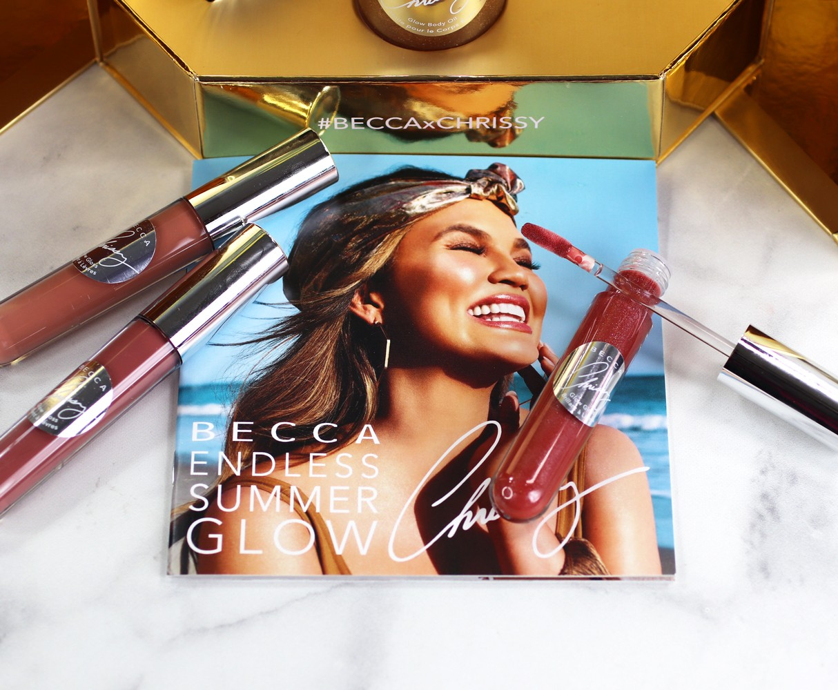 Becca x Chrissy Glow Gloss Chrissy Teigen - Becca Cosmetics Glow Gloss + Becca x Chrissy Teigen Swatches featured by popular Los Angeles cruelty free beauty blogger My Beauty Bunny