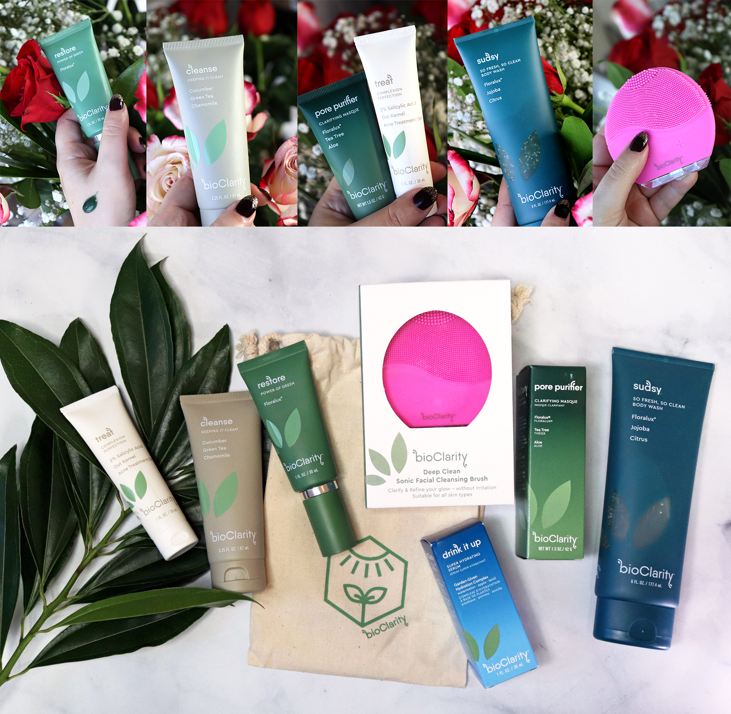 Cruelty Free Holiday Gift Guide 2020 - BioClarity skincare Bye Bye Blemish Bundle