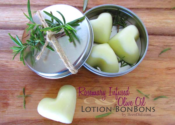 Rosemary Infused Lotion Bars - DIY Homemade Lotion and Massage Bar Recipes featured by popular Los Angeles cruelty free beauty blogger, My Beauty Bunny