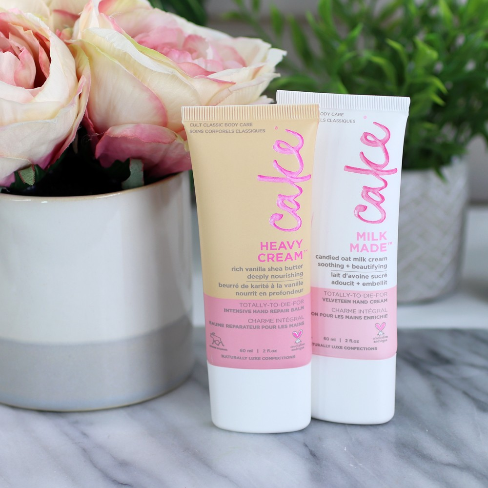 Cake Beauty vegan and cruelty free hand creams for dry winter skin - The Best Cruelty Free Hand Creams and Scrubs for Dry Winter Skin by LA cruelty free beauty blogger My Beauty Bunny