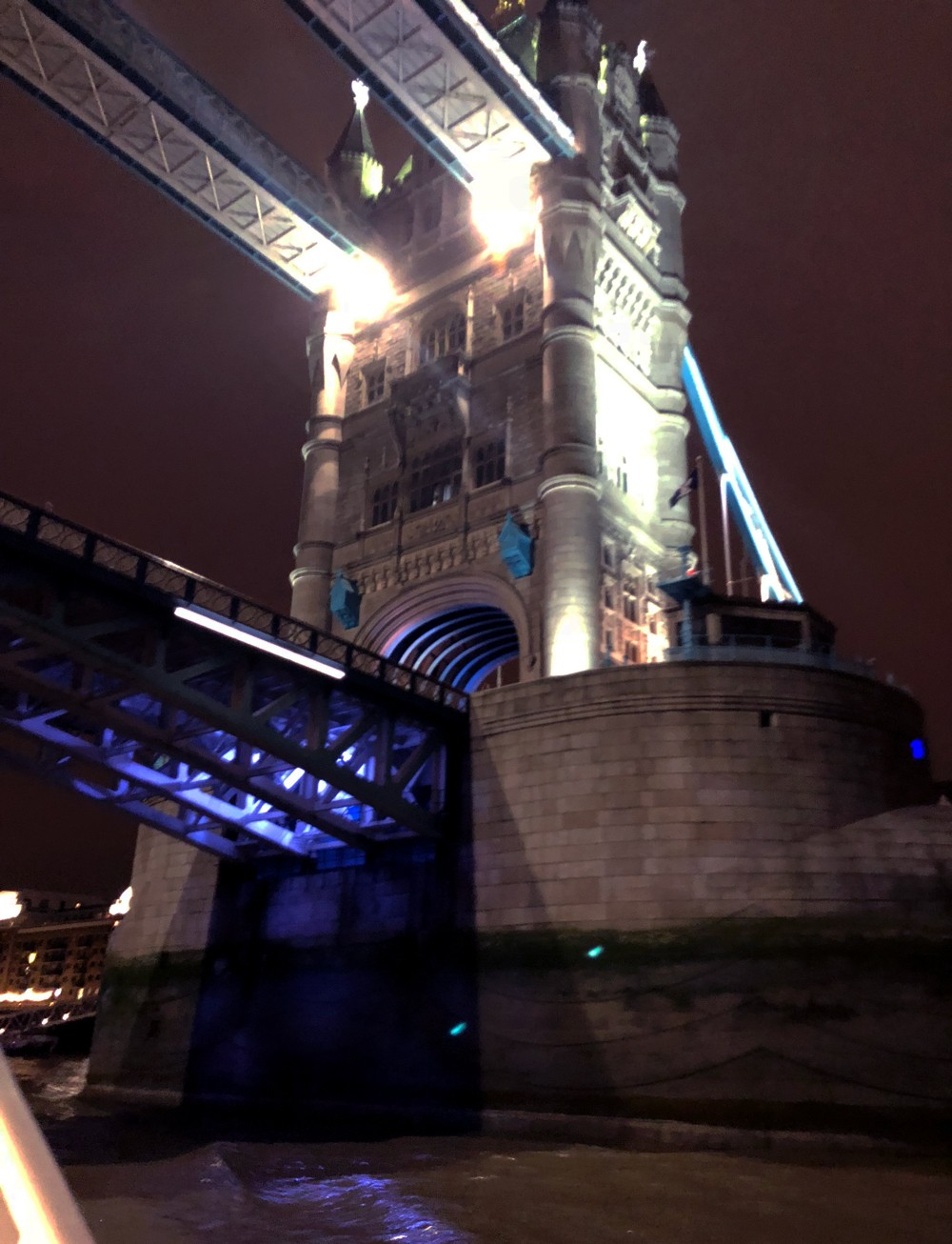 View of London Bridge from City Cruises River Boat Tour