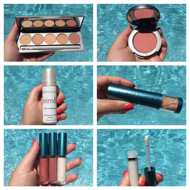 Colorescience products with SPF