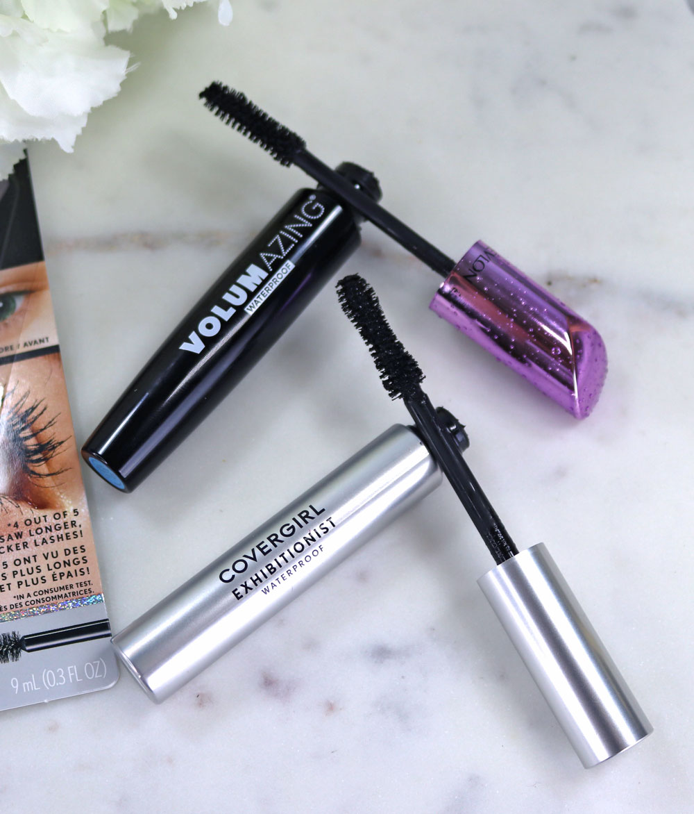 Cruelty free Covergirl Exhibitionist Waterproof Mascara dupe for Revlon Volumazing Mascara