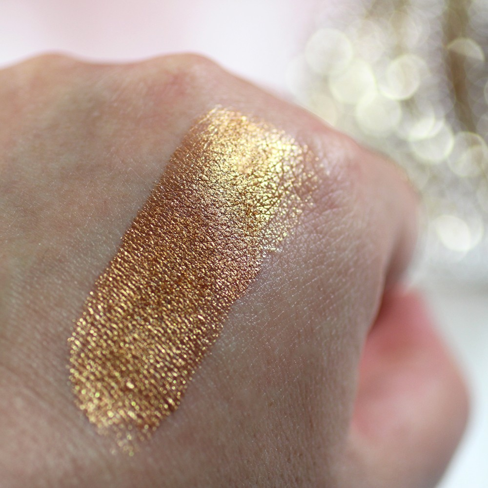 Cruelty Free Dome Cosmetics Eye Jewels 24K Gold Swatch from Navago