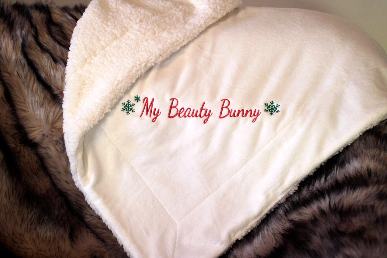 Custom Monogram Sherpa Blanket