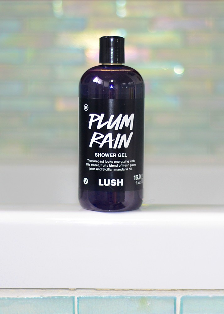 lush plum rain body wash