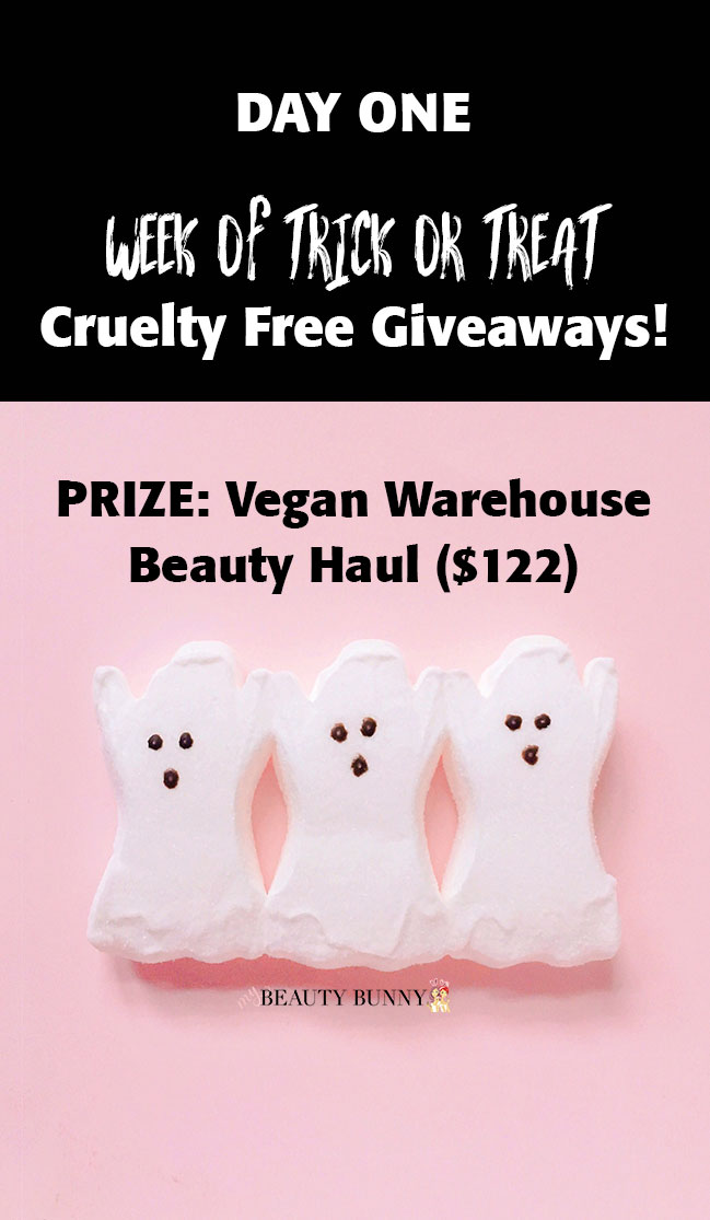 Week of Trick or Treat Giveaways - Vegan Warehouse Beauty Haul