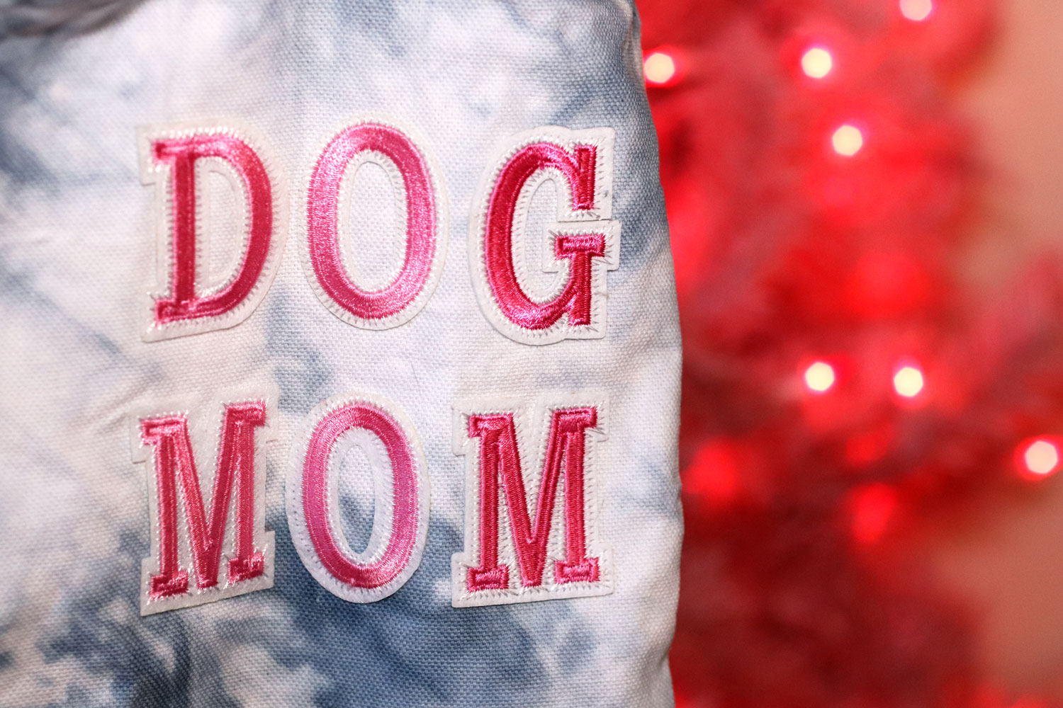 Woman Owned Holiday Gift Guide 2019 - BFFs & Babes Dog Mom Tie Dye Tote Bag