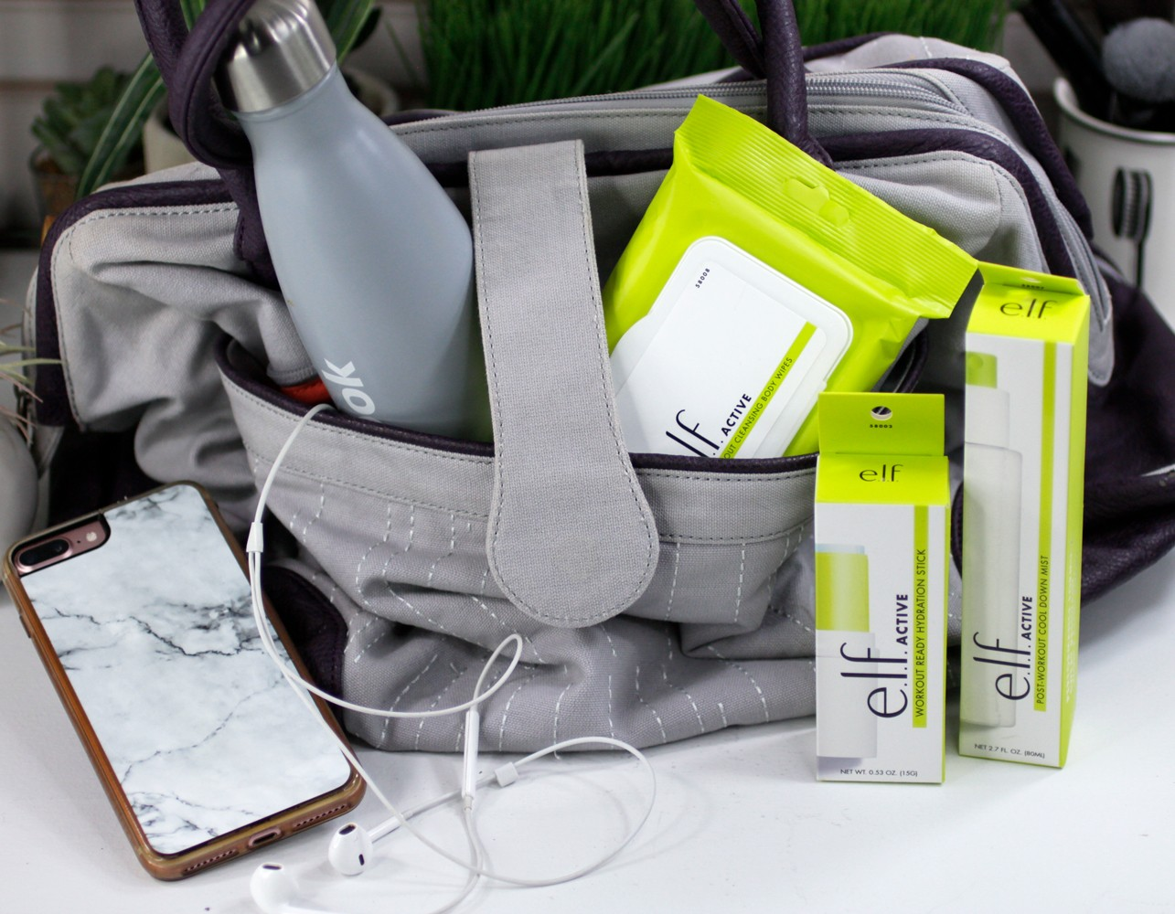 Elf Active Skincare and Makeup for the Gym