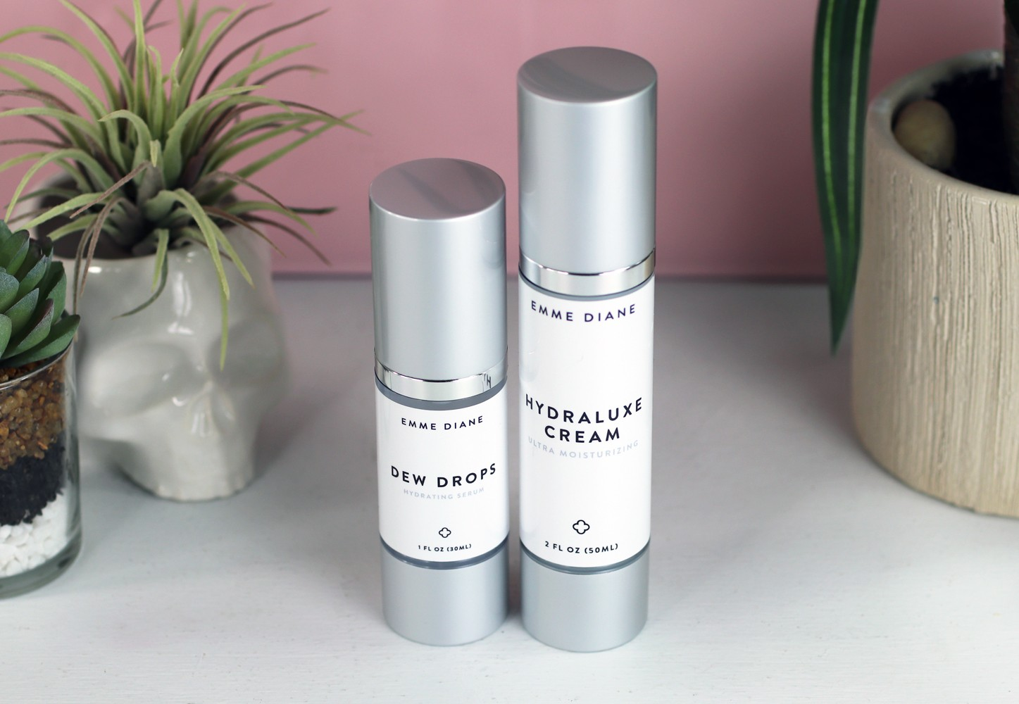 Emme Diane Dew Drops and Hydraluxe Cream - perfect for dry skin with acne - Products You Need For Dry Acne Prone Skin by popular LA cruelty free beauty blogger My Beauty Bunny