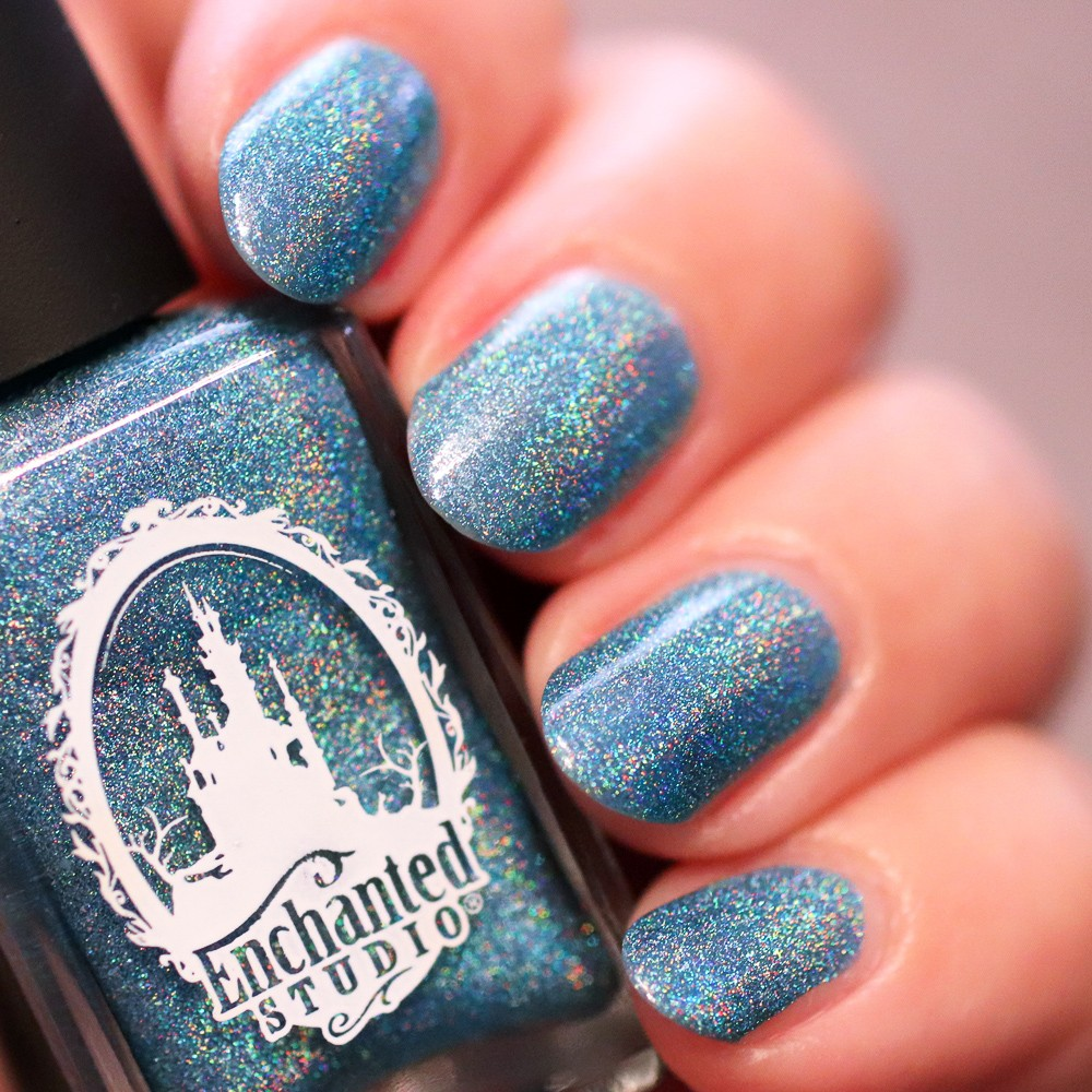 Enchanted Studio Vegan Nail Polish - Surf Bunny - Enchanted Studio Magical Vegan Nail Polish featured by popular Los Angeles cruelty free beauty blogger, My Beauty Bunny