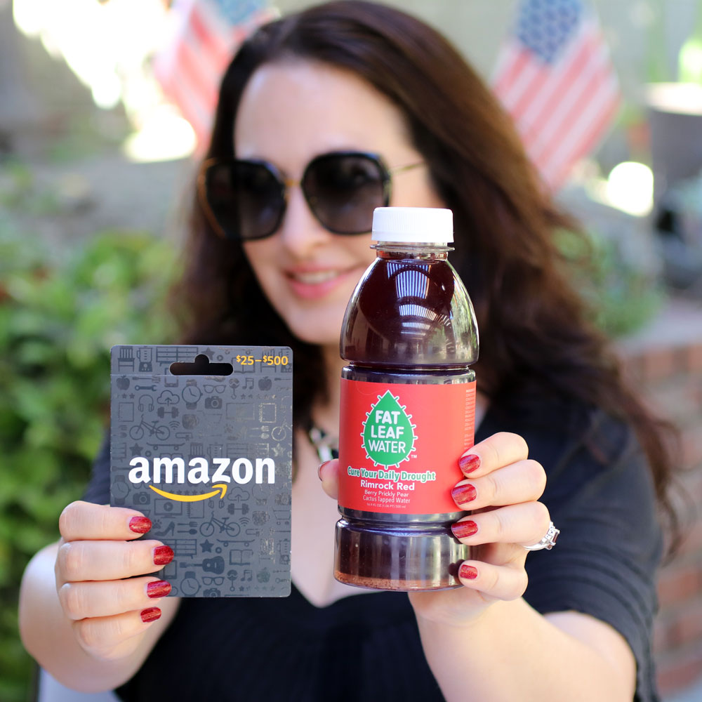 Fat Leaf Water + Amazon Gift Card Giveaway!