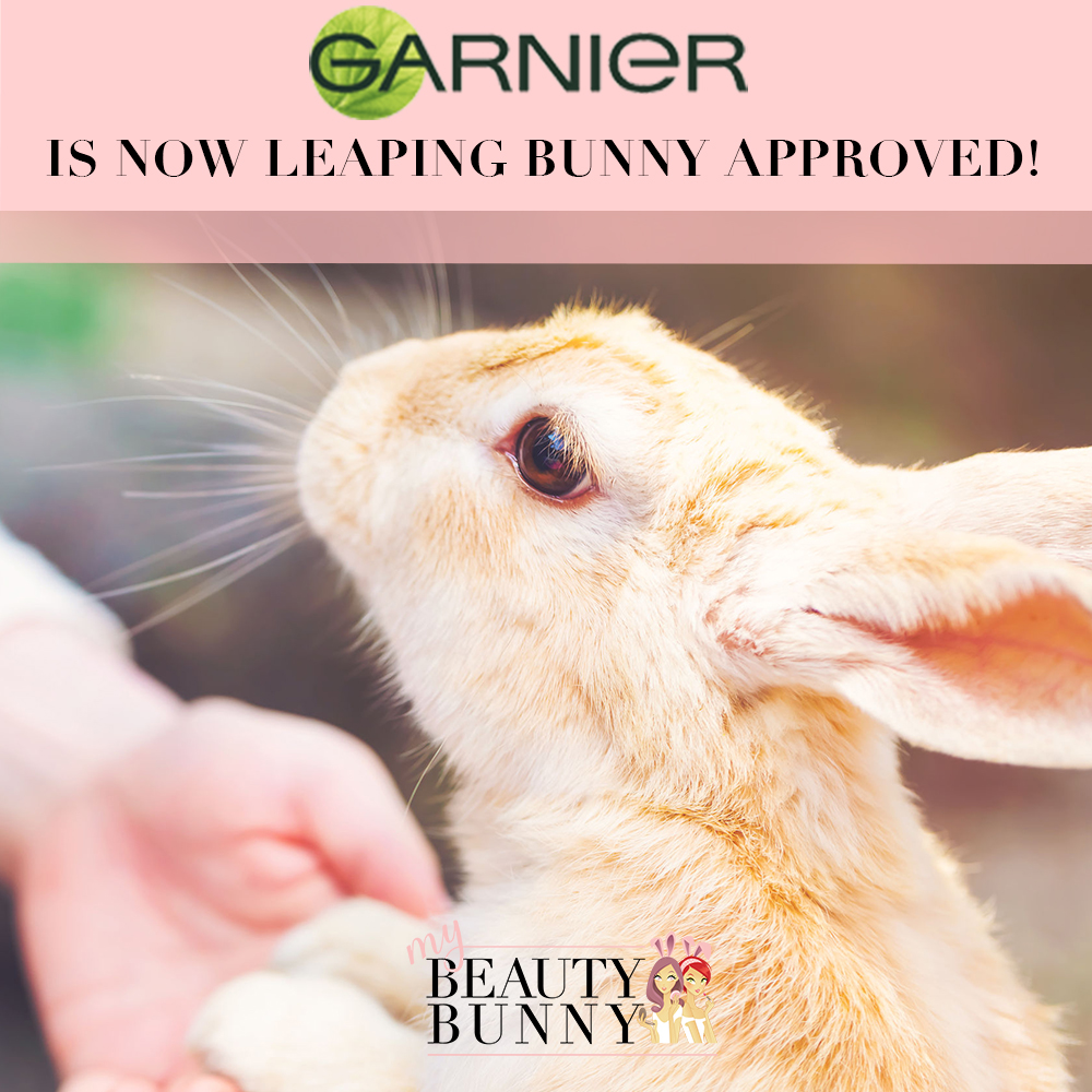 Garnier is Leaping Bunny approved cruelty free