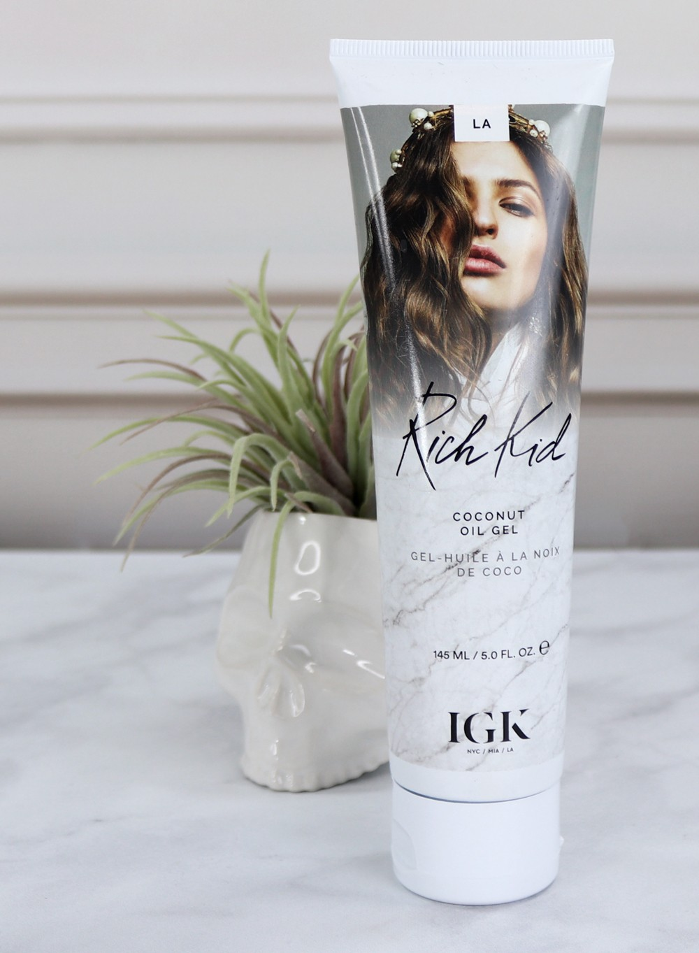 IGK Rich Kid Coconut Oil Gel Review - IGK Cruelty Free Hair Product Hits and Misses by popular Los Angeles cruelty free beauty blogger My Beauty Bunny