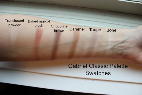 Gabrel Cosmetics Palette Swatches