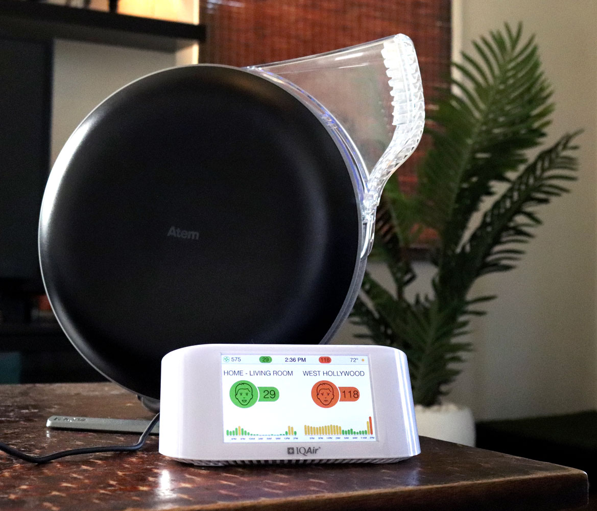 Air IQ AirVisual Pro air monitor and Atem air purifier review