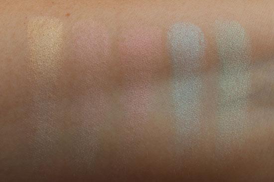 Inglot Rainbow Eyeshadow Light Swatches