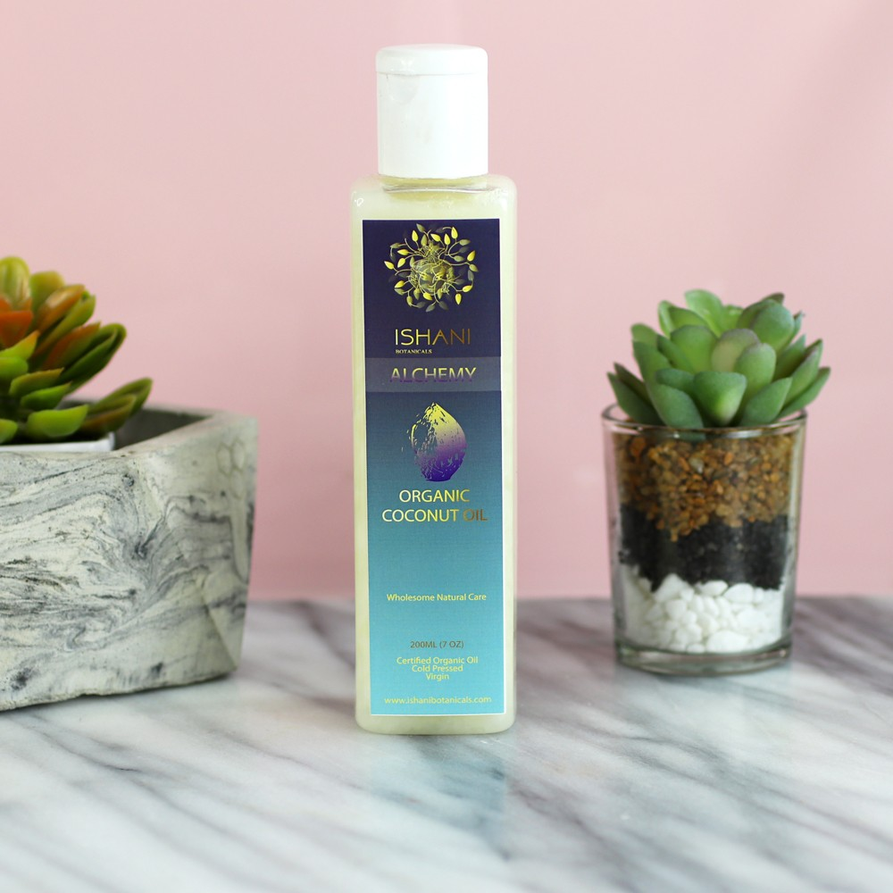 Ishani Botanicals Coconut Hair Oil for Dry Scalp - My Favorite Dry Scalp Products for the Winter by popular LA cruelty free beauty blogger My Beauty Bunny