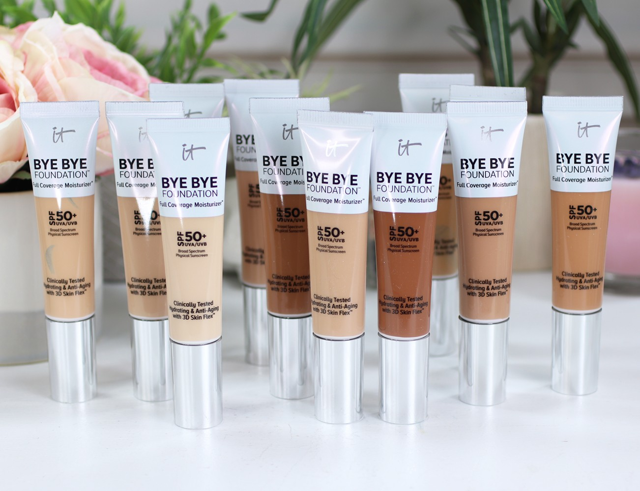 It Cosmetics Bye Bye Foundation Review and Swatches - Best Cruelty Free Sunscreen for Your Face by popular Los Angeles cruelty free beauty blogger My Beauty Bunny
