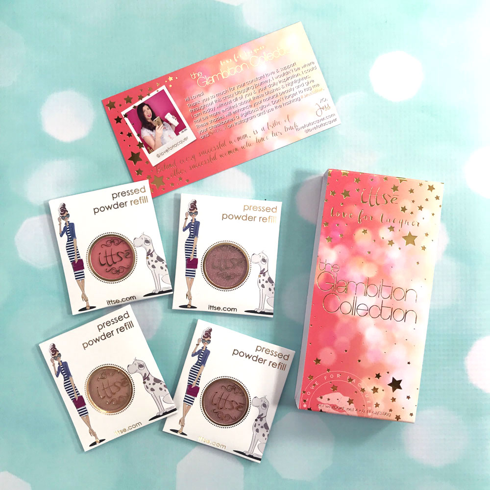 Ittse x Love for Lacquer Glambition Collection Highlighter and Blush Palette