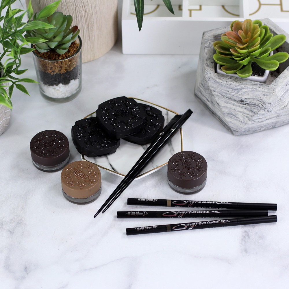 Kat Von D Eyebrow Product Review and Swatches by Los Angeles Beauty Blogger My Beauty Bunny