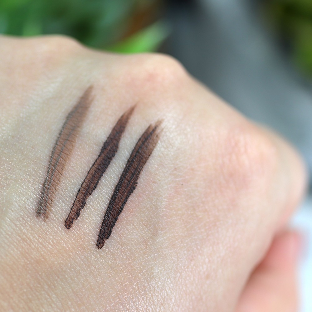 Kat Von D Brow Pomade Swatches - Taupe Medium Brown and Dark Brown