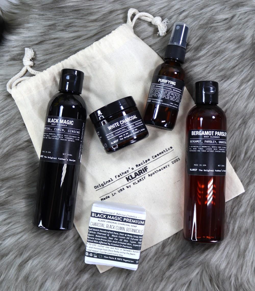 Klarif Fathers Recipe Cosmetics Review - Klarif beauty products by popular Los Angeles cruelty free beauty blogger My Beauty Bunny
