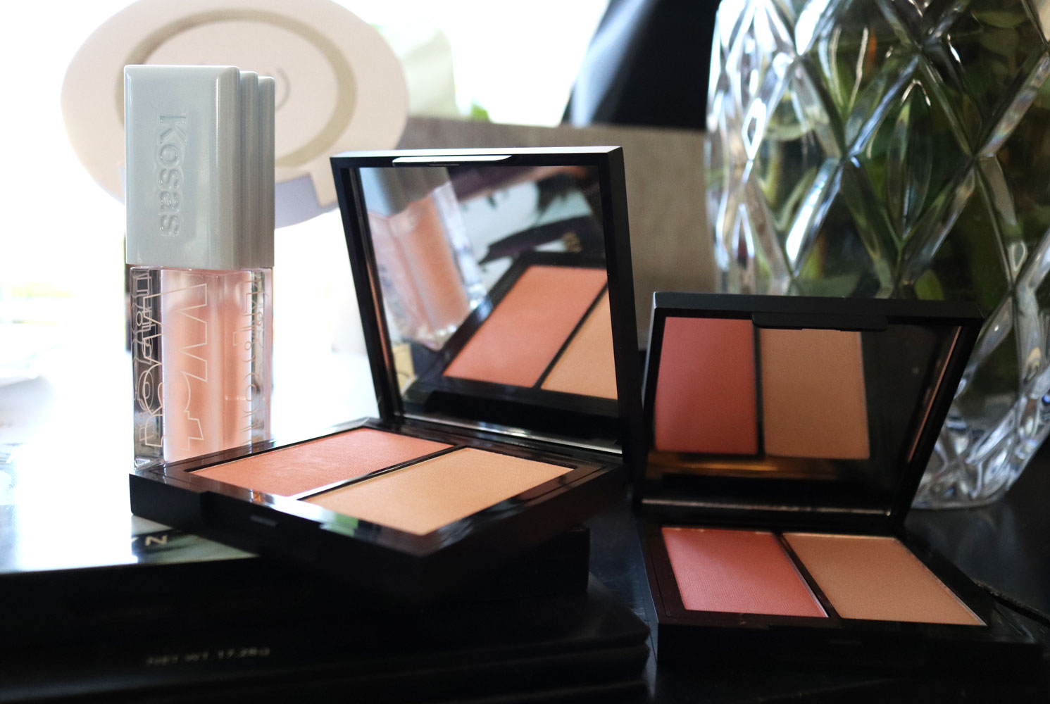 Kosas Color & Light blush and highlighter palettes