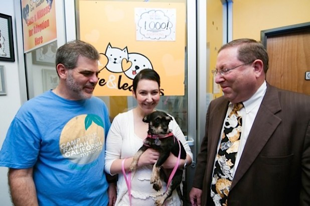 LALL Eddie & Melissa and Sadie Rabin with Councilman Paul Koretz