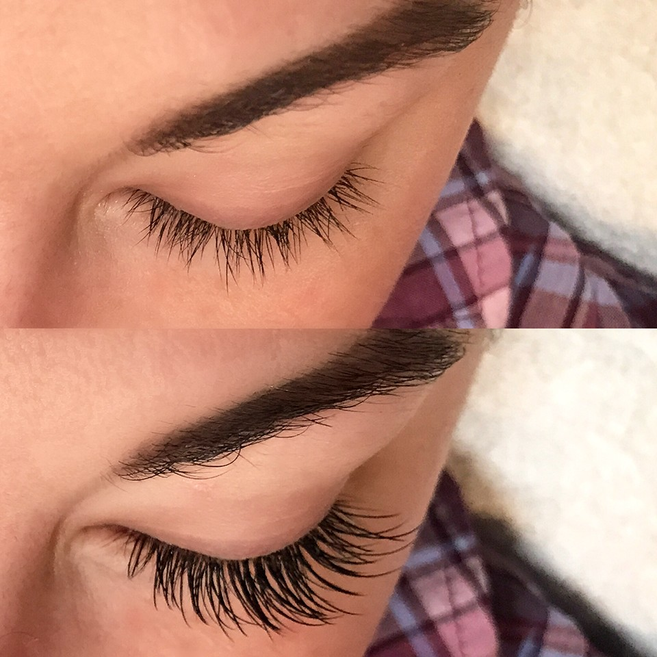 Cruelty Free Lash Extensions - Before and After