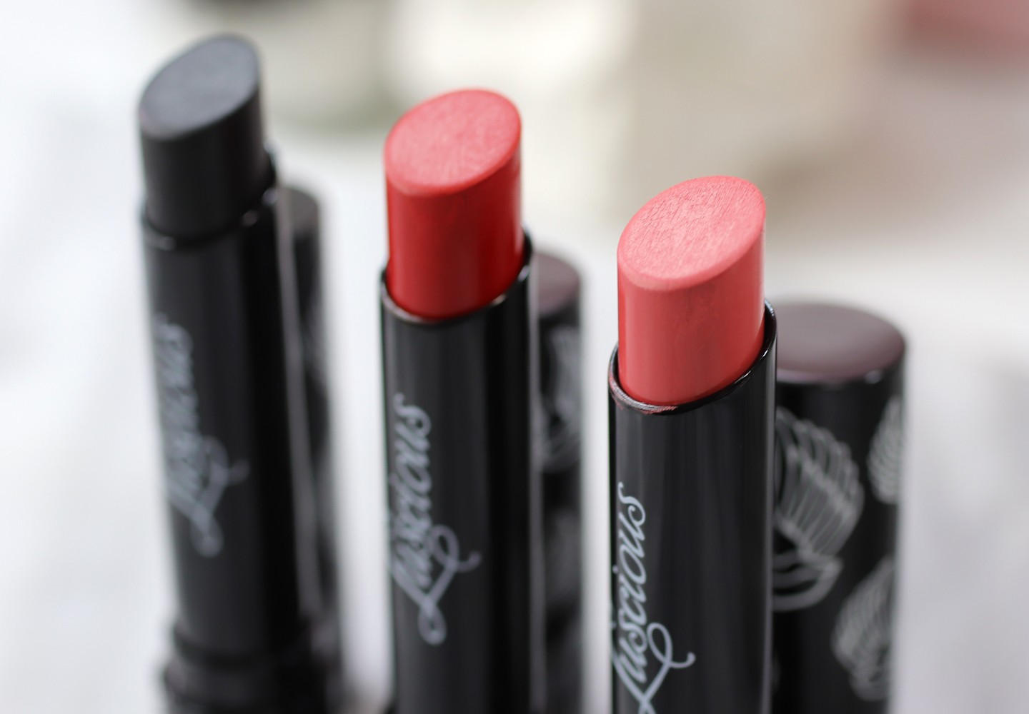 Luscious Cosmetics Creamy Matte Lipstick - Luscious Cosmetics Review and Try On by popular LA cruelty free beauty blogger My Beauty Bunny