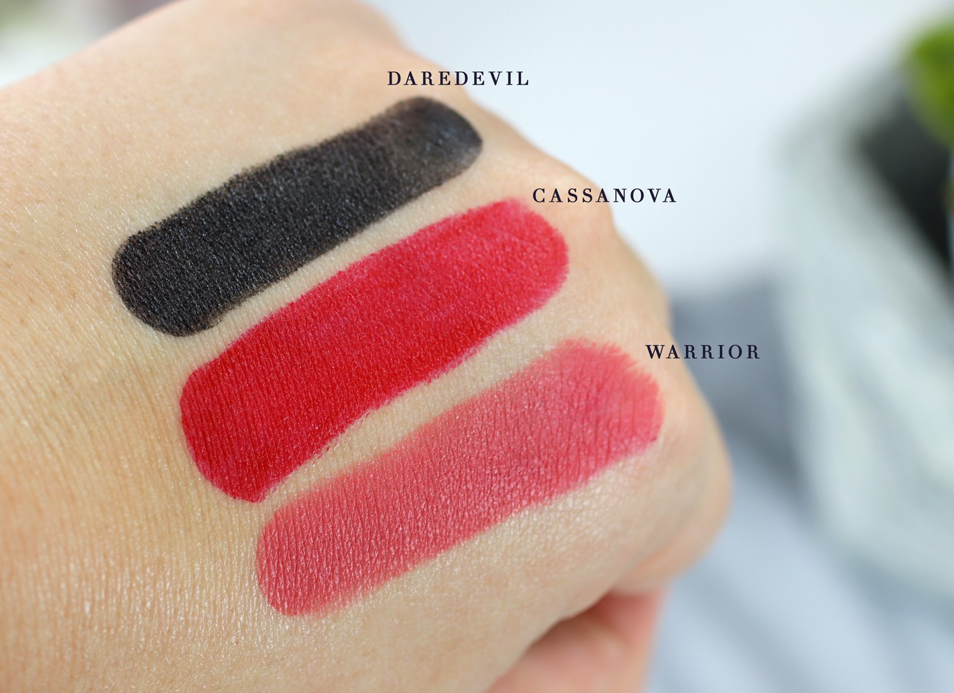 Luscious Cosmetics Heartbreaker Creamy Matte Lipstick Swatches - Luscious Cosmetics Review and Try On by popular LA cruelty free beauty blogger My Beauty Bunny