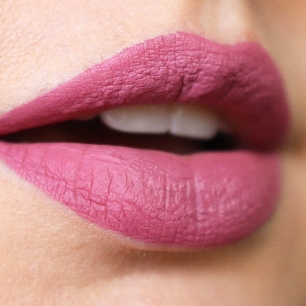 Melted Clover Too Faced Liquid Matte Lipstick Swatch - Too Faced Melted Clover Liquid Matte Lipstick review by popular Los Angeles cruelty free beauty blogger My Beauty Bunny