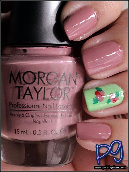 Easy Vintage Roses Nail Art With Morgan Taylor Lacquer My Beauty Bunny Cruelty Free