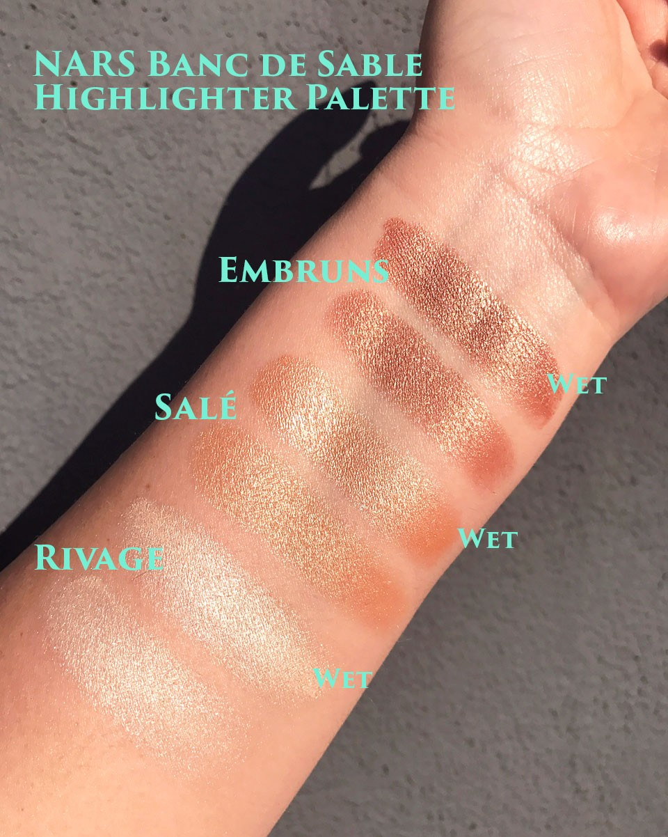 NARS Banc de Sable Highlighter Palette Swatches