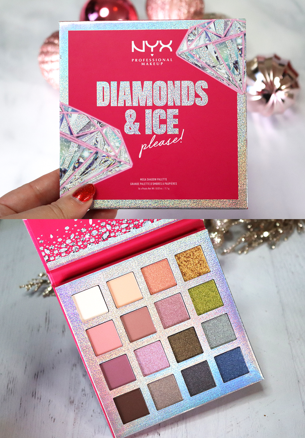 Cruelty Free Holiday Gift Guide 2020 - NYX Diamonds and Ice Please palette