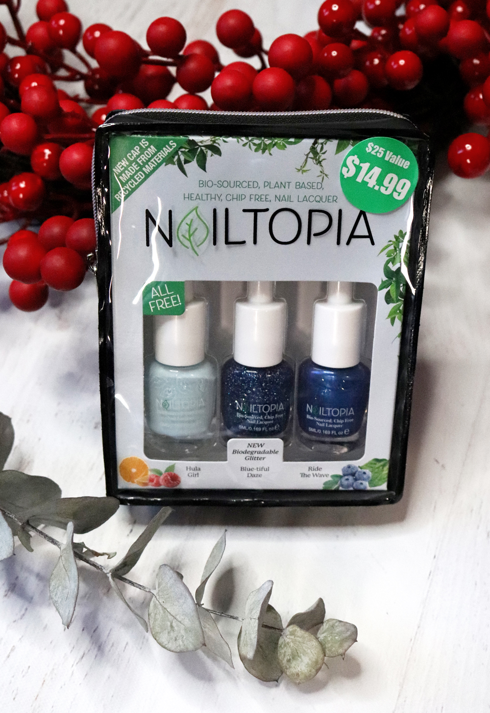Cruelty Free Holiday Gift Guide 2020 - Nailtopia Blue-tiful Daze Holiday Kit