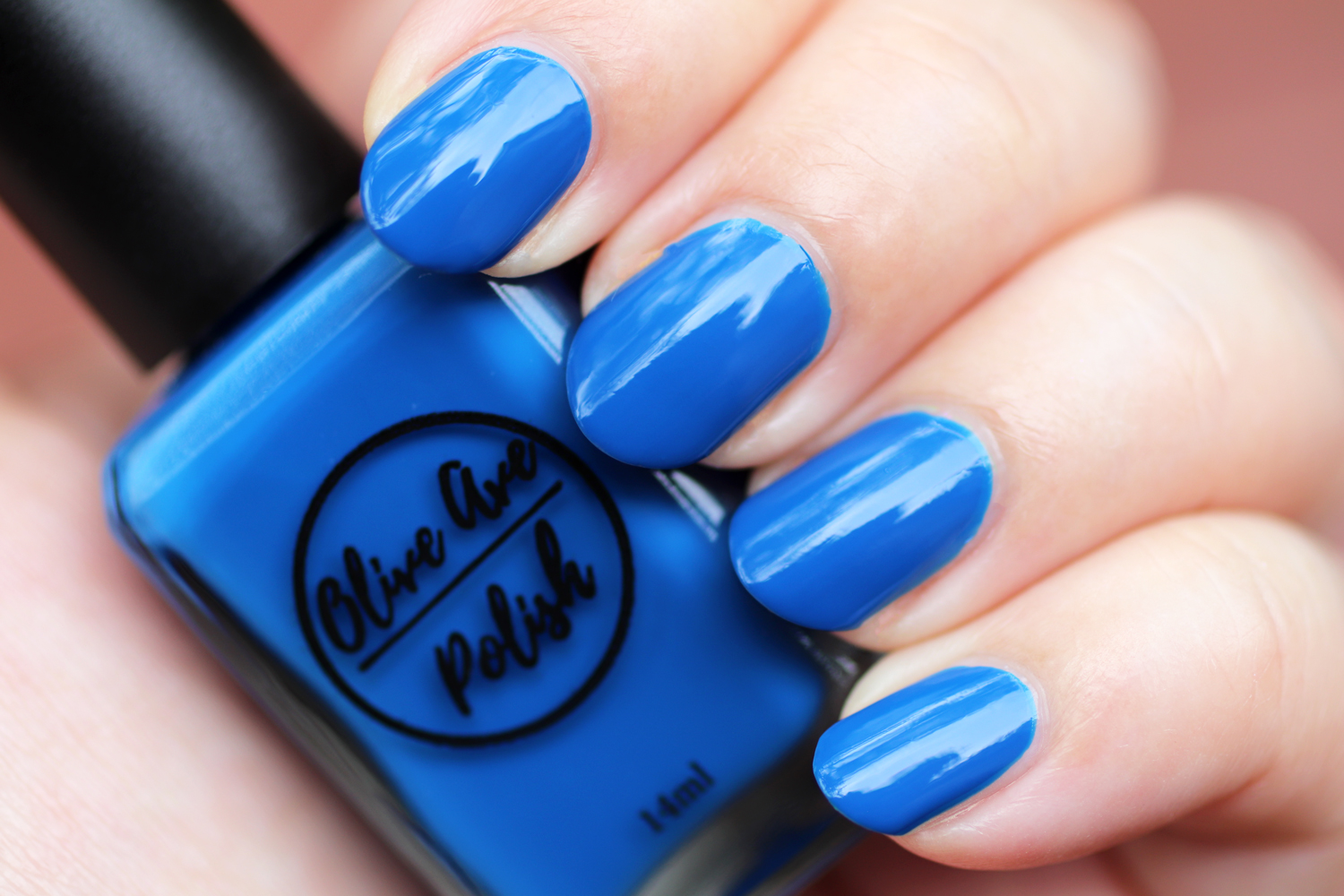 Roo cream blue nail polish by Olive Ave