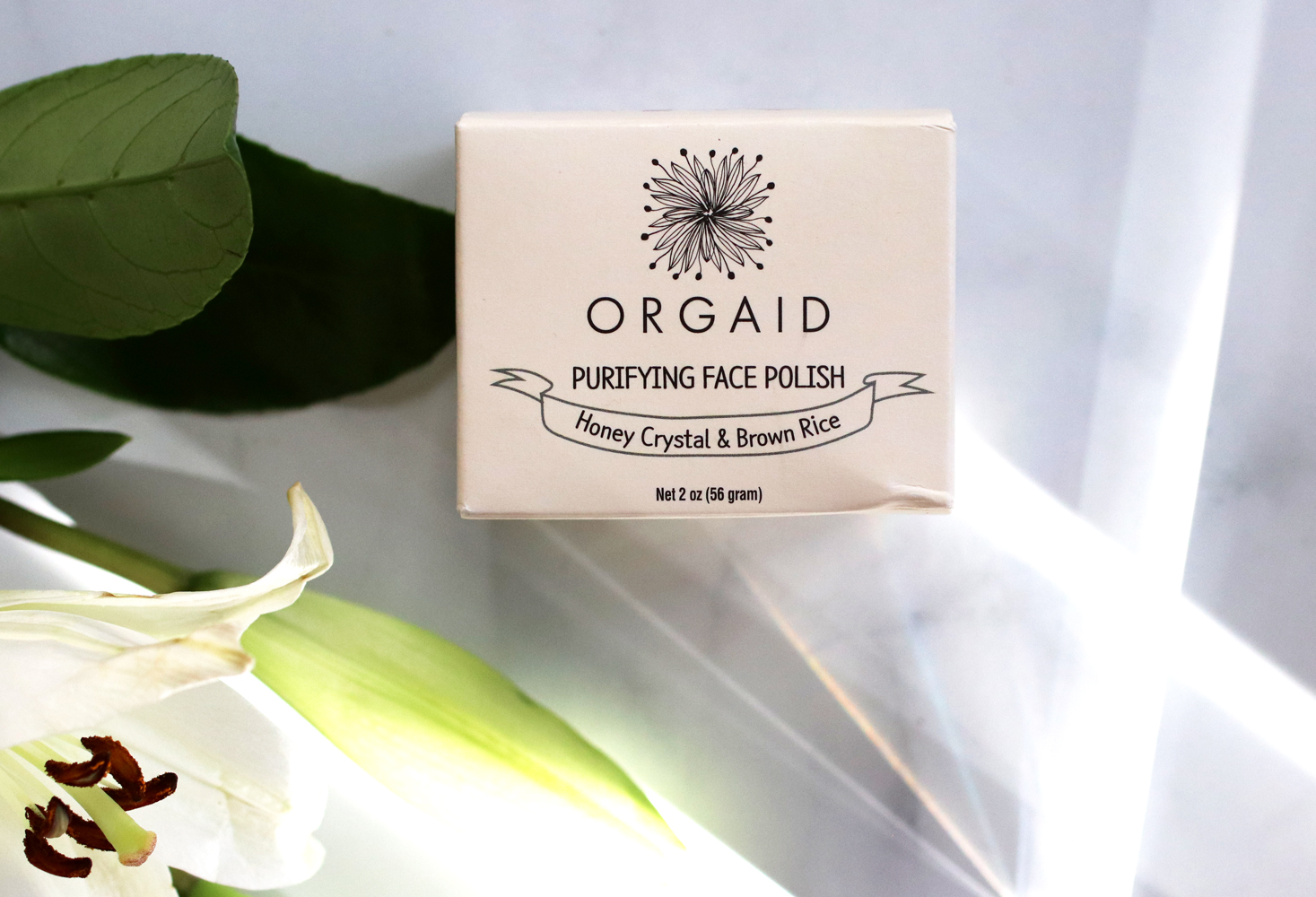 Clean beauty from Cynaglow - ORGAID Purifying Face Polish