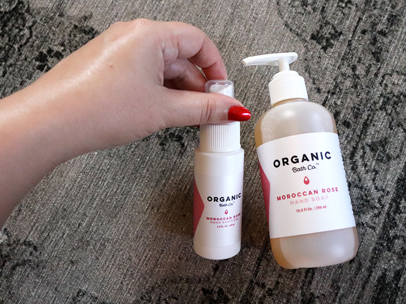 Black owned cruelty free beauty - Organic Bath Co hand sanitizer and hand soap