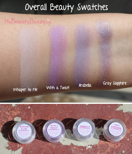 Overall Beauty mineral makeup swatches