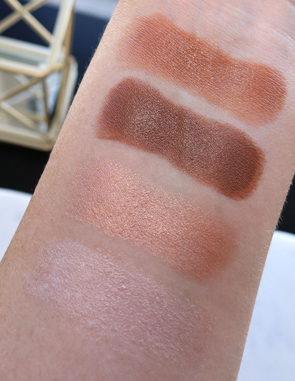 Physicians Formula Organic Wear Stick Contour Bronzer and Highlighter Swatches