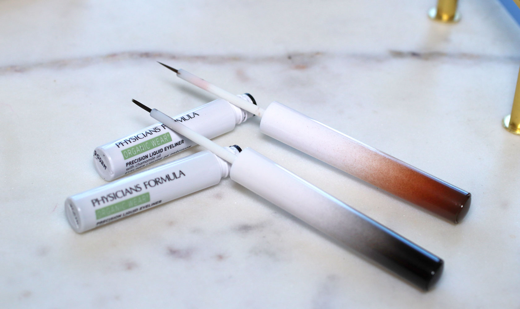 Physicians Formula Organic Wear Liquid Liner Eyeliner Review and Swatches