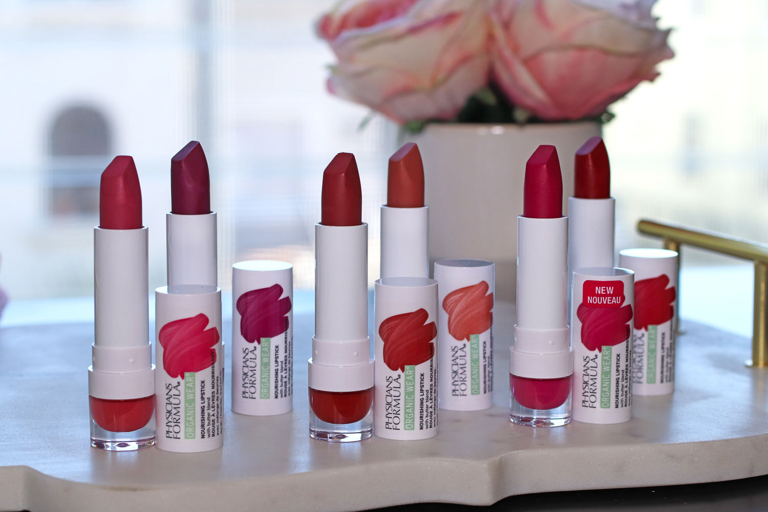 Physicians Formula Organic Wear Nourishing Lipstick Review and Swatches