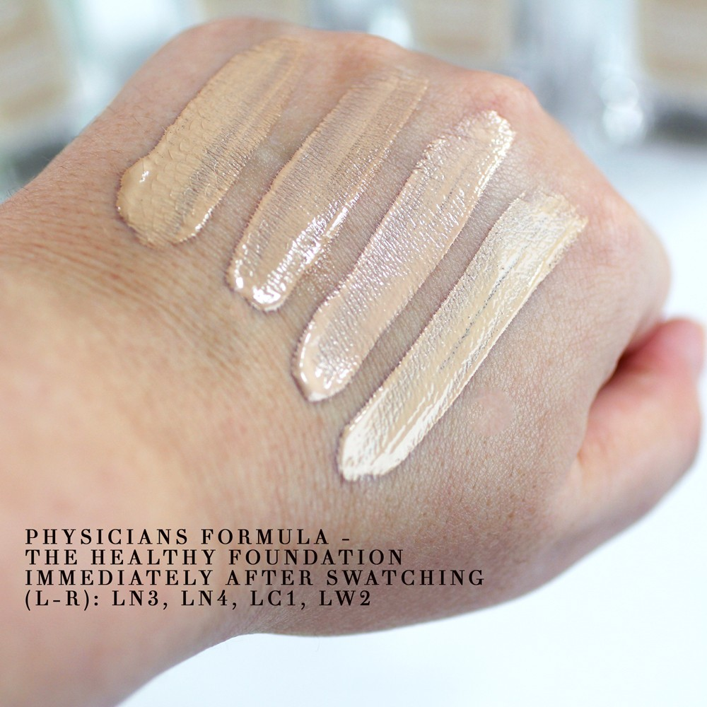 Physicians Formula The Healthy Foundation Swatches