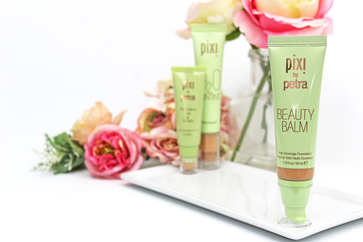 Pixi Beauty Balm - Pixi Beauty foundation comparison swatches