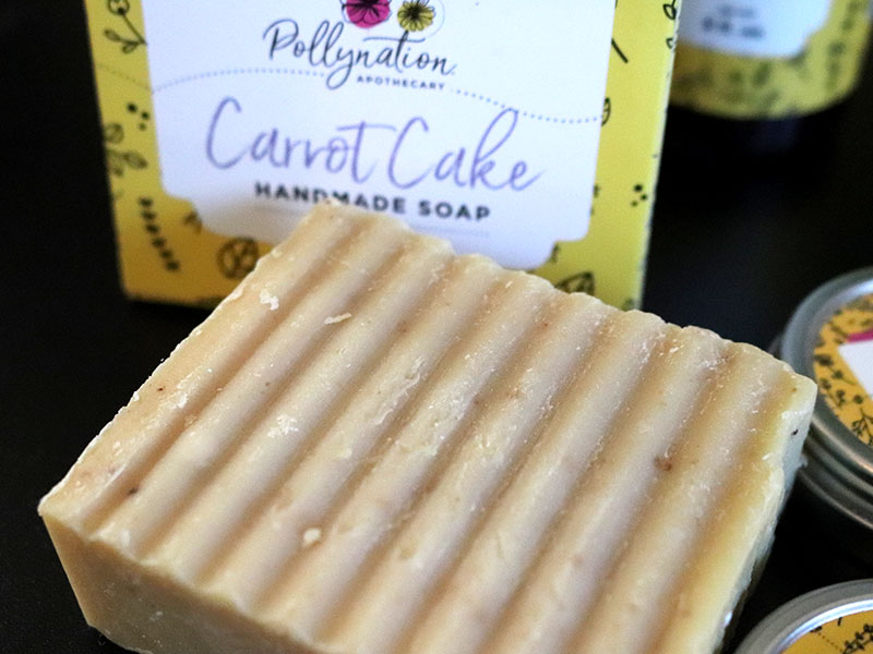 Black owned hair and beauty brands - Pollynation Apothecary Carrot Cake Soap
