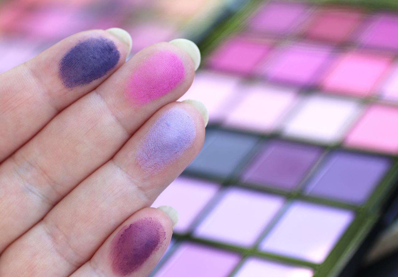 Makeup Revolution Colour Book Eyeshadow Palette CB04 matte swatches